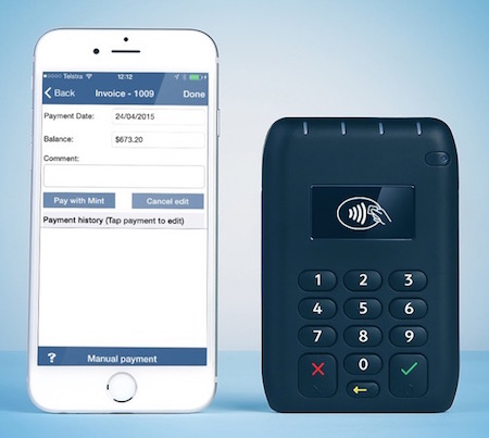 Integrated credit card payments with Mint in SpeedInvoice mobile invoice app
